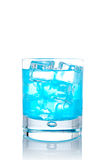 Blue paradise cocktail Royalty Free Stock Images