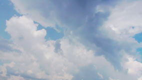 Blue Paradise Smoky Clouds stock footage