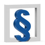 The blue paragraph sign Royalty Free Stock Images
