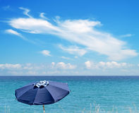 Blue parasol Royalty Free Stock Photo