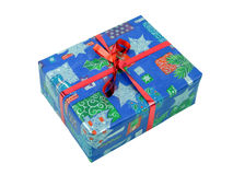 Blue Parcel Stock Photo