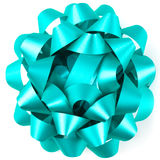 Blue Parcel Bow Royalty Free Stock Photo