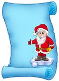 Blue parchment with Santa Claus 1 Stock Photos