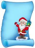 Blue parchment with Santa Claus 5 Stock Photos