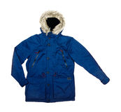 Blue parka Stock Photo