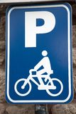 Blue Parking Sign Royalty Free Stock Image