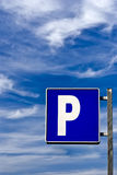 Blue Parking signal Royalty Free Stock Image