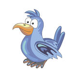 Blue parrot on the isolated background - vector illustration Royalty Free Stock Photos