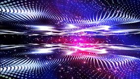 Blue particle dimension space background stock video footage