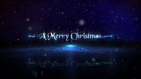 Blue Particle Merry Christmas Happy New Year Loop
