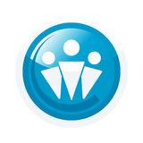 Blue partnership icon Royalty Free Stock Images