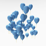 Blue party balloons Royalty Free Stock Images