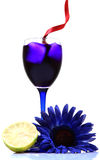 Blue party drink Royalty Free Stock Photo