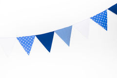 Blue party flag Stock Photography