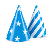 Blue party hat isolated on a white background Stock Image