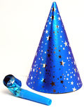 Blue Party Hat and Noisemaker Stock Images