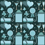 Blue party pattern Royalty Free Stock Images