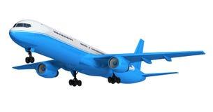 Blue passenger liner Royalty Free Stock Image