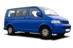 Blue Passenger Van Royalty Free Stock Photos