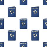 Blue Passport Flat Icon Seamless Pattern Royalty Free Stock Photos