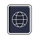 Blue passport icon image Royalty Free Stock Photos