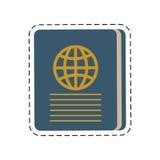 blue passport identification tourist cut line Royalty Free Stock Images