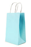 Blue paste  Paper bag on white background Royalty Free Stock Photography