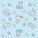 Blue pastel baby background Stock Image