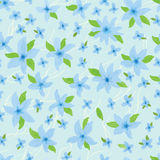 Blue pastel color seamless pattern Stock Image