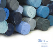 Blue pastels Stock Images