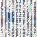 Blue patchwork with grungy strips. Stock Photo