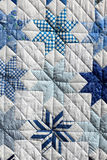 Blue patchwork Stock Image