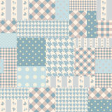 Blue patchwork of rectangles. Royalty Free Stock Images