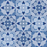 Blue patchwork tiles Stock Photo