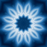 Blue pattern. Blue flower style pattern Stock Images
