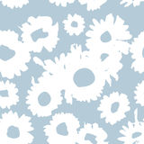 Blue pattern with daisies. Millefleurs liberty style. Ditsy floral pattern for printing on fabric,  women`s clothes Royalty Free Stock Photography