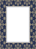 Blue pattern frame with text box Royalty Free Stock Photography