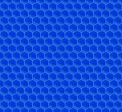 Blue Pattern Hexagon Mosaic Royalty Free Stock Photos