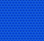 Blue Pattern Hexagon Mosaic Royalty Free Stock Photography
