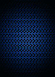 Blue pattern. Metal blue pattern with triangles shapes Royalty Free Stock Photography