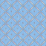 Blue pattern of net Stock Image