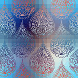Blue pattern with paisley Royalty Free Stock Photo