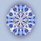 Blue pattern for pillow Royalty Free Stock Photos
