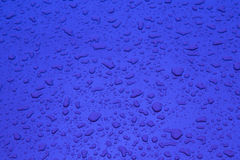 Blue pattern of raindrops Stock Photo