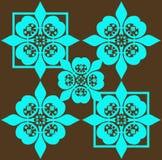 blue pattern retro seamless 免版税库存照片