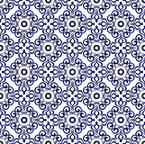 Blue pattern seamless 1 Royalty Free Stock Images