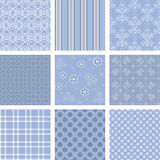 Blue pattern. Seamless background Collection, vector Illustration royalty free illustration