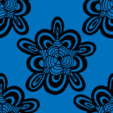 Blue pattern. Royalty Free Stock Photography