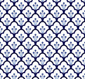 Blue pattern seamless Royalty Free Stock Photography
