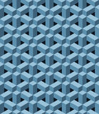 Blue pattern. Seamless pattern with blue three dimensional shapes Stock Photos
